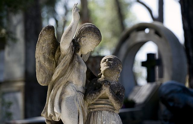 Little angels in the cementary